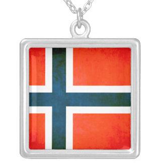 Bandera colorida del noruego del contraste colgante cuadrado