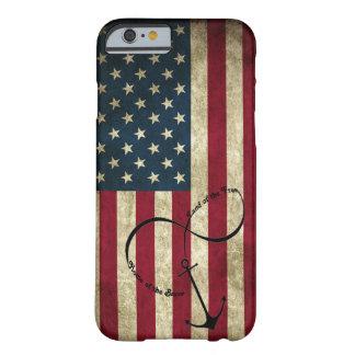 Bandera con el ancla del infinito funda barely there iPhone 6