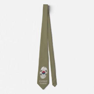 Bandera coreana de la huella dactilar del tacto corbata personalizada