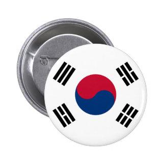 Bandera coreana Seul S.K. koreans Pride de la Core Chapa Redonda De 5 Cm
