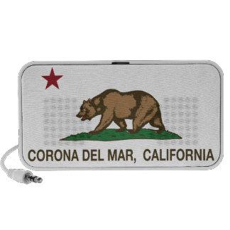 Bandera Corona del Mar de la república de Californ Portátil Altavoces
