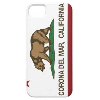 Bandera Corona del Mar de la república de Californ iPhone 5 Case-Mate Cárcasa