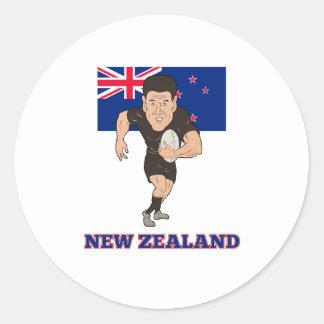 Bandera corriente de Nueva Zelanda de la bola del Etiqueta Redonda