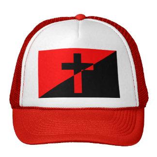 Bandera cristiana del cristianismo de la anarquía gorro de camionero