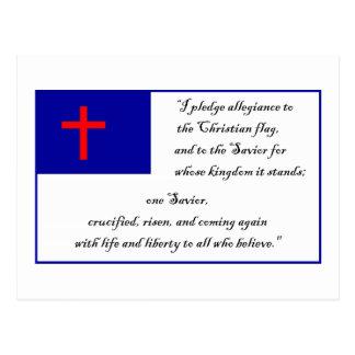 Bandera cristiana y compromiso a la bandera postal