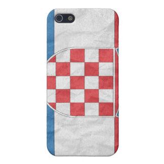 Bandera croata iPhone 5 carcasa