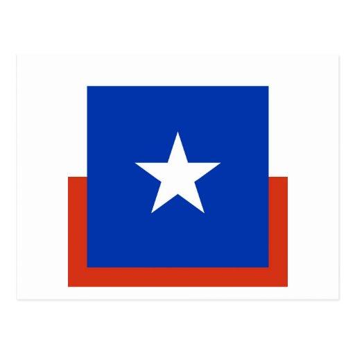 Bandera cuadrada de Chile Postales