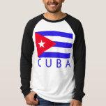 Bandera cubana camiseta