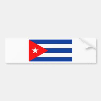 Bandera cubana pegatina para coche
