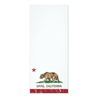 bandera Davis de California apenado Invitación 10,1 X 23,5 Cm