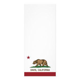 Bandera Davis del estado de California Invitaciones Personales