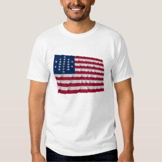 bandera de 21 estrellas, modelo cortado del camisetas