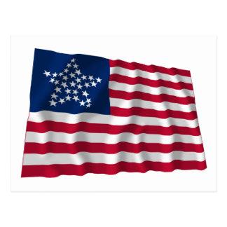 bandera de 33 estrellas, gran modelo de estrella postal