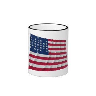 bandera de 33 estrellas, modelo de la guarnición d taza