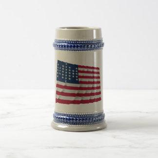 bandera de 33 estrellas, modelo de la guarnición d tazas de café