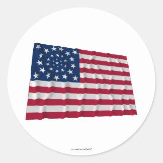 bandera de 34 estrellas, modelo de la guirnalda, pegatina redonda