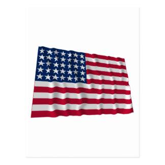 bandera de 35 estrellas postal