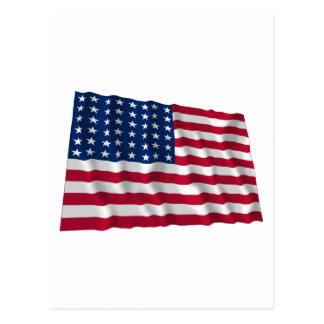 bandera de 48 estrellas postal