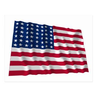 bandera de 48 estrellas postales