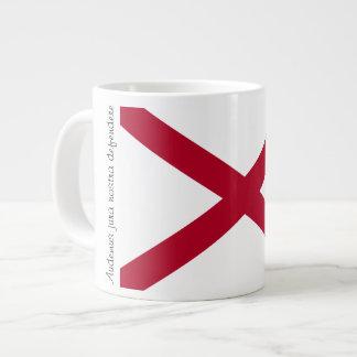 Bandera de Alabama y taza del lema