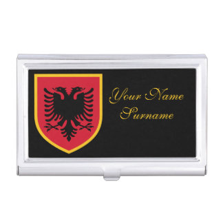 Bandera de Albania Caja De Tarjetas De Negocios