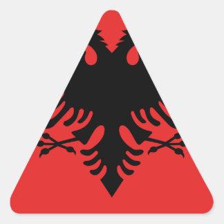 Bandera de Albania - Flamuri i Shqipërisë Pegatina Triangular