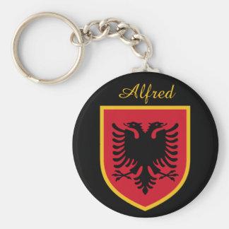 Bandera de Albania Llavero Redondo Tipo Chapa