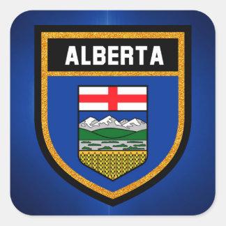 Bandera de Alberta Pegatina Cuadrada