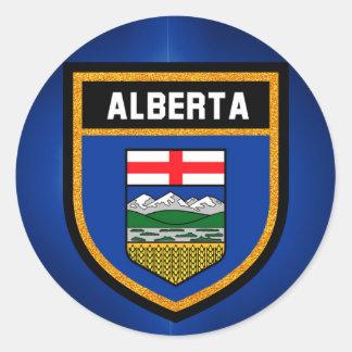 Bandera de Alberta Pegatina Redonda