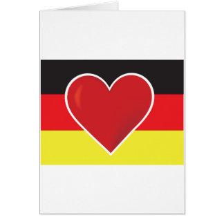 Bandera de Alemania del corazón Tarjeta De Felicitación