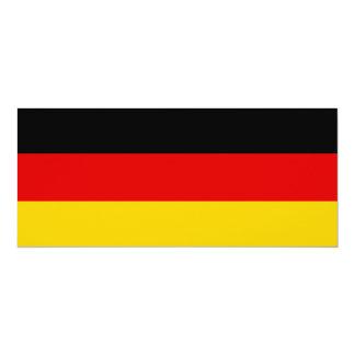 Bandera de Alemania Invitación 10,1 X 23,5 Cm