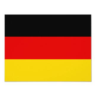 Bandera de Alemania Invitación 10,8 X 13,9 Cm