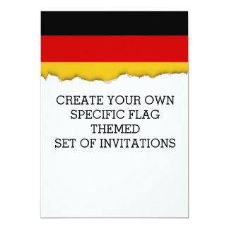 Bandera de Alemania Invitación 12,7 X 17,8 Cm