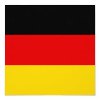 Bandera de Alemania Invitación 13,3 Cm X 13,3cm