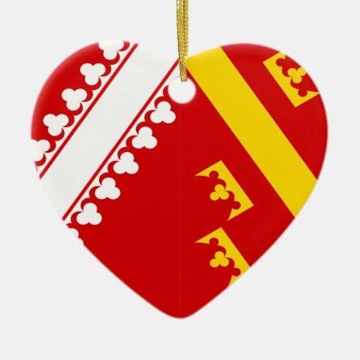 Bandera de Alsacia (vieja), Francia Ornamentos De Reyes