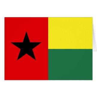 Bandera de alta calidad de Guinea-Bissau Tarjeta De Felicitación