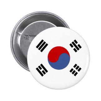 Bandera de alta calidad de la Corea del Sur Chapa Redonda 5 Cm