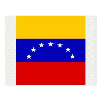 Bandera de alta calidad de Venezuela Tarjeta Postal