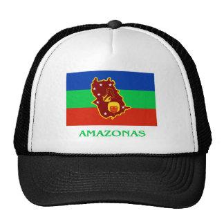 Bandera de Amazonas con nombre Gorro De Camionero