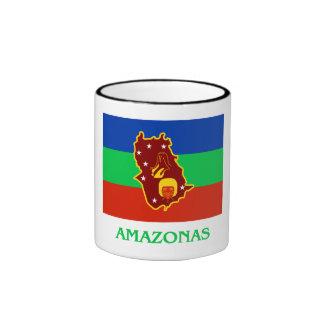 Bandera de Amazonas con nombre Taza