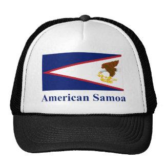 Bandera de American Samoa con nombre Gorra