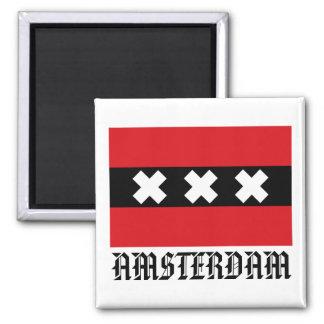 Bandera de Amsterdam Imanes