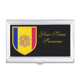 Bandera de Andorra Cajas De Tarjetas De Visita