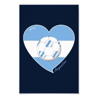 Bandera de ARGENTINA FÚTBOL equipo nacional 2014 Impresion Fotografica