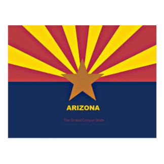 Bandera de Arizona con lema Postal