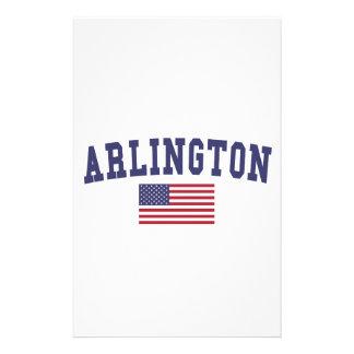Bandera de Arlington VA los E.E.U.U. Papelería