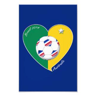 Bandera de AUSTRALIA FÚTBOL nacional del mundo Arte Con Fotos