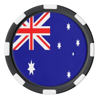 Bandera de Australia Juego De Fichas De Póquer