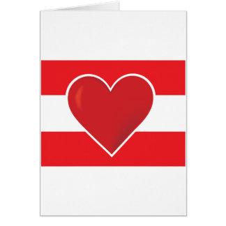 Bandera de Austria del corazón Tarjeta De Felicitación