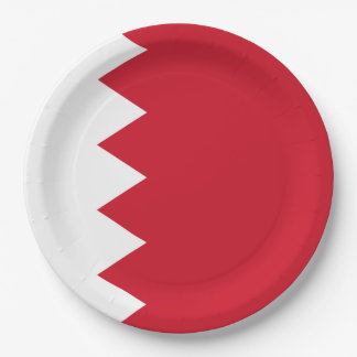 Bandera de Bahrein Plato De Papel